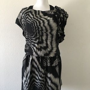 Robert Rodriguez Black & White Floral Dress Size 2